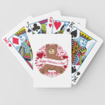 Happy Valentine's Day! Teddy Bear Bicycle Playing Cards