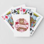 Happy Valentine's Day! Teddy Bear Poker Cards
