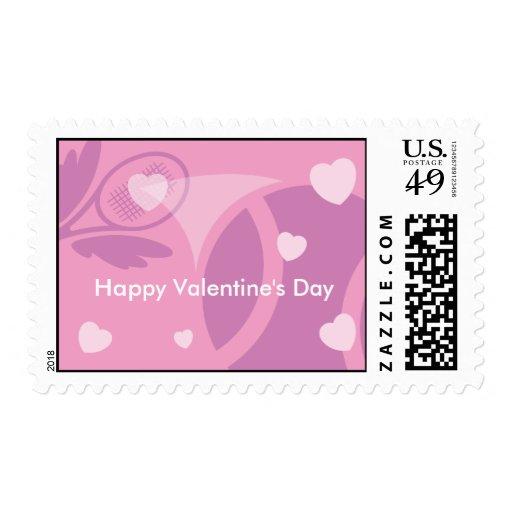 Happy Valentine's Day Tennis Stamp