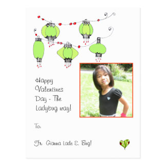 Happy Valentines Day the Ladybug way Postcard