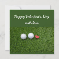 Happy Valentine's Day to Golfer with golf ball