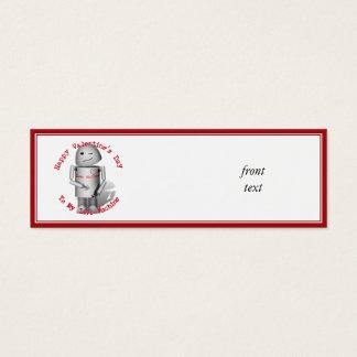 Happy Valentine's Day To My Love Machine Mini Business Card