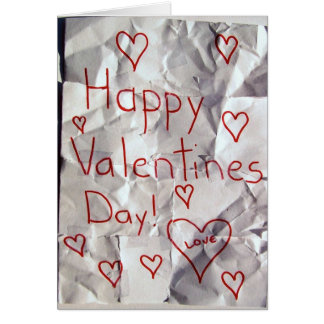 Happy Valentine's Day, torn and taped together Greeting Card