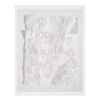 Happy Valentine's Day, torn and taped together Letterhead Design
