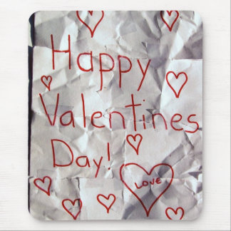 Happy Valentine's Day, torn and taped together Mouse Pad