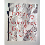 Happy Valentine's Day, torn and taped together Photo Sculptures