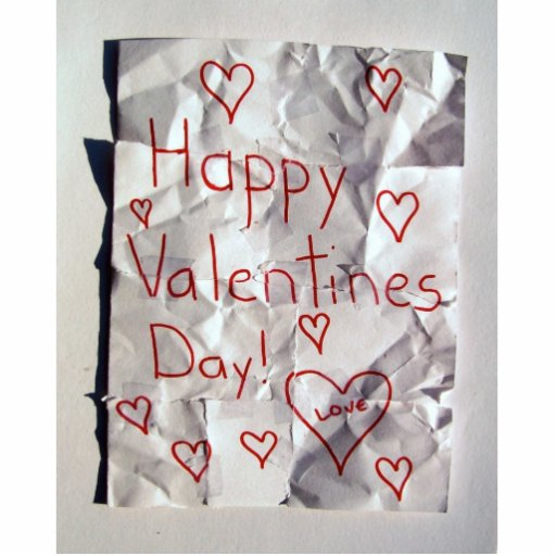 Happy Valentine's Day, torn and taped together Cut Out