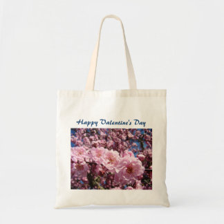 Happy Valentine's Day tote bags Pink Blossoms