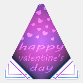 Happy valentines day triangle sticker