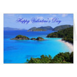 Happy Valentine's Day, Tropical Beach Greeting Card