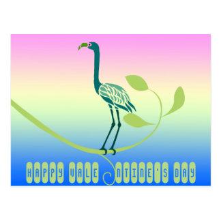Happy Valentine's Day Tropical Bird Postcards