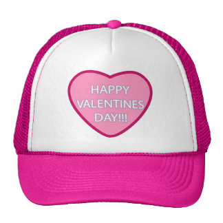 """""""Happy Valentine's Day!!!"""" Trucker Hat"""