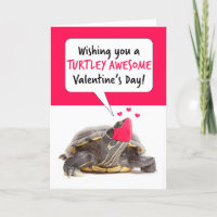 Happy Valentine's Day Turtle in Covid Face Mask Holiday Card
