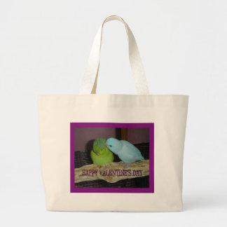 Happy Valentine's day V Large Tote Bag