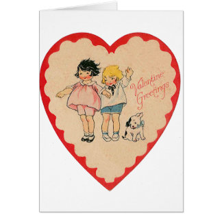 happy valentines day vintage old school love card
