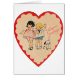 happy valentines day vintage old school love cards