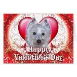 Happy Valentines Day Westie Greeting Card