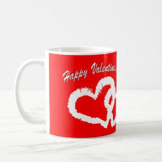Happy Valentine's Day White Kissing Hearts Mugs