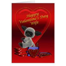 Happy Valentine's Day Wife Card