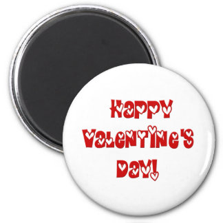 Happy Valentine's Day with Hearts 2 Inch Round Magnet
