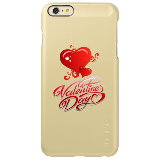 happy valentines day with red hearts incipio feather shine iPhone 6 plus case