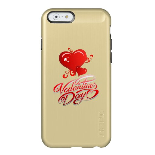 happy valentines day with red hearts incipio feather shine iPhone 6 case