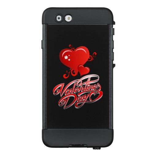 happy valentines day with red hearts LifeProof NÜÜD iPhone 6 case