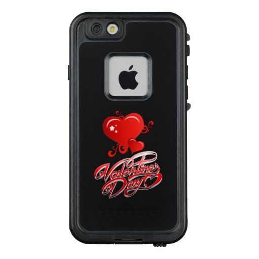 happy valentines day with red hearts LifeProof FRĒ iPhone 6/6s case