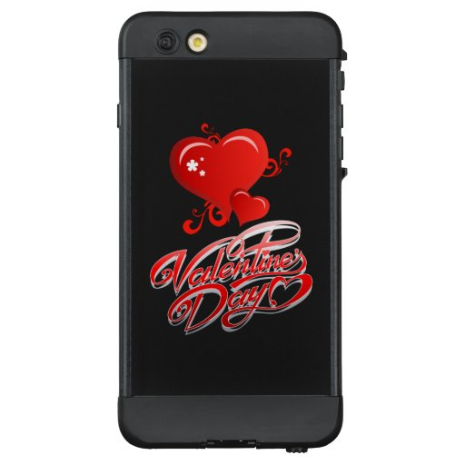 happy valentines day with red hearts LifeProof NÜÜD iPhone 6 plus case