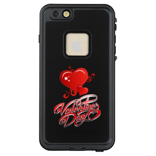 happy valentines day with red hearts LifeProof FRĒ iPhone 6/6s plus case