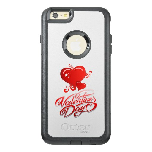 happy valentines day with red hearts OtterBox iPhone 6/6s plus case