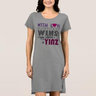 Happy Valentine's Day Yinz Tshirt Dress