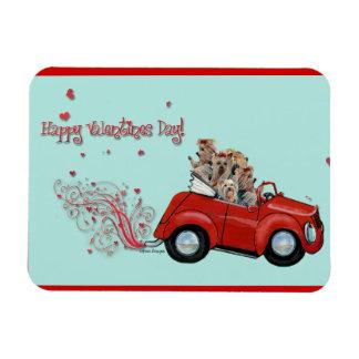 Happy Valentine's Day Yorkies Rectangular Photo Magnet