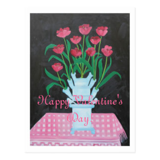 HAPPY VALENTINE'S DAY YOU MAKE MY HEART BLOOM POSTCARD