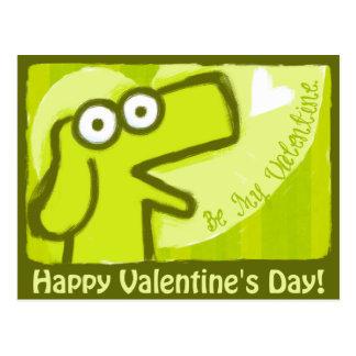 Happy Valentine's Dog Postcard