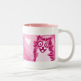 Happy Valentine's Dog Two-Tone Coffee Mug