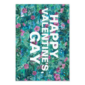 happy valentines gay 3.5x5 paper invitation card