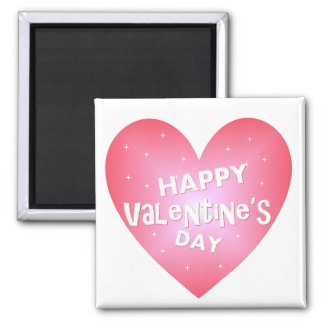 Happy Valentine's heart 2 Inch Square Magnet