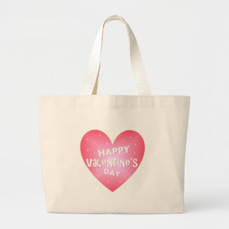 Happy Valentine's heart Large Tote Bag