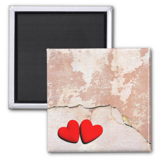 Happy Valentine's hearts 2 Inch Square Magnet