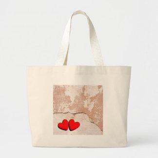 Happy Valentine's hearts Large Tote Bag