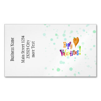 happy valentines magnetic business card