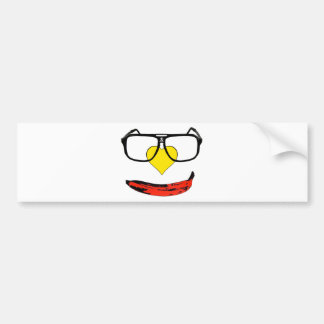 Happy Valentine's Pop Art Smiley Face Bumper Sticker