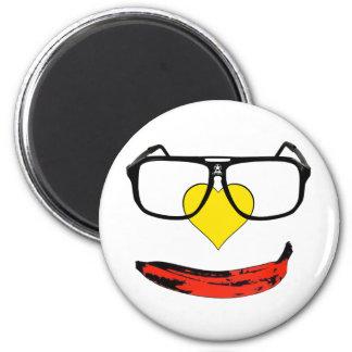 Happy Valentine's Pop Art Smiley Face 2 Inch Round Magnet