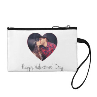 Happy Valentines Red Heart   Add Photo Coin Purse