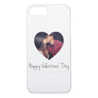 Happy Valentines Red Heart   Add Photo iPhone 7 Case