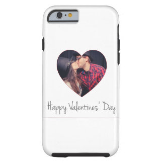 Happy Valentines Red Heart   Add Photo Tough iPhone 6 Case