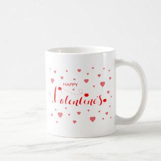 HAPPY VALENTINE's with red Hearts Coffee Mug