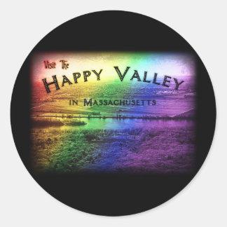 Happy Valley Massachusetts Classic Round Sticker