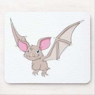 Happy Vampire Bat Cartoon Mouse Pad